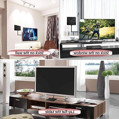 2019 Newest Range HDTV Antenna Indoor Amplified Digital HD Gain Channels High Antenna Booster, 1080P Coax - High Reception