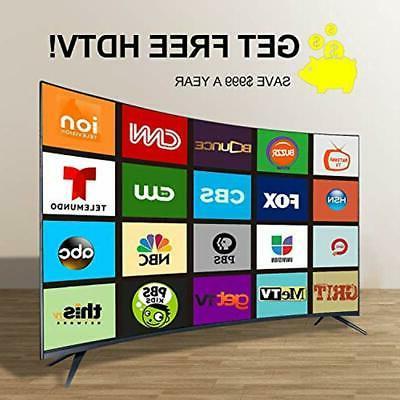 2019 TV 50 Antenna, Indoor Amplified Digital 4K
