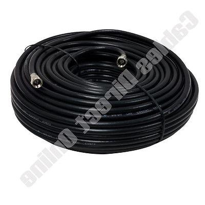 25ft black extension coax coaxial satellite dish