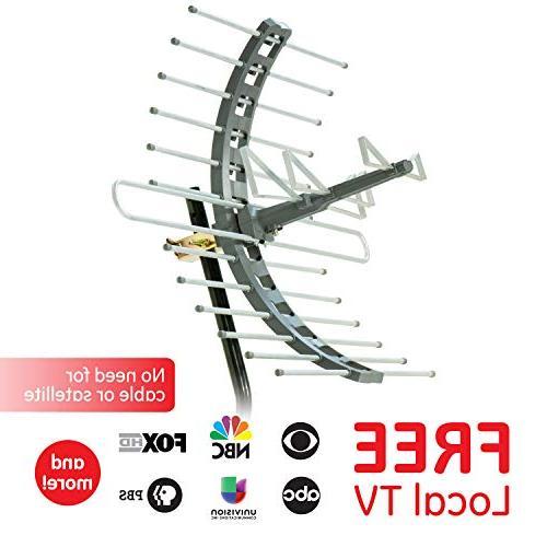 GE TV Antenna, Long Range Antenna, HDTV Antenna, 4K 1080P VHF Compact Design, 29884