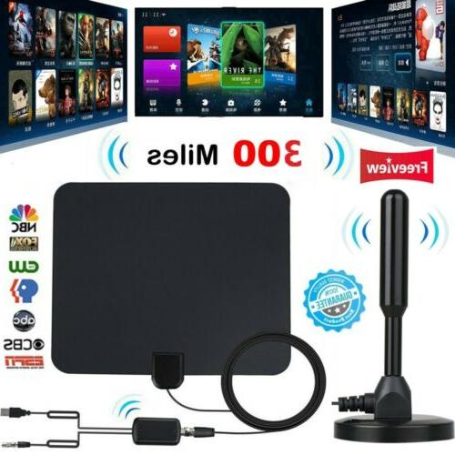 300 mile hdtv indoor antenna aerial hd