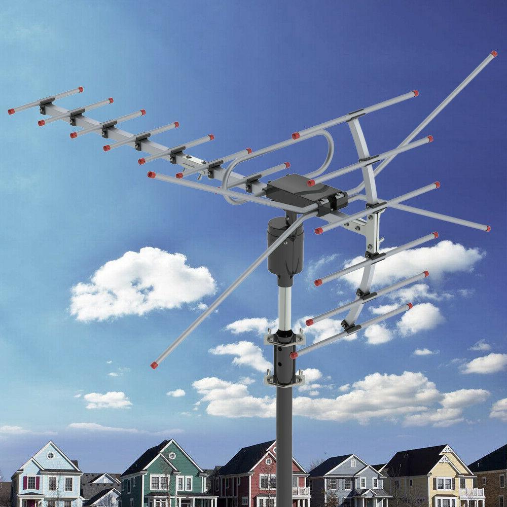 360°Rotation 4K 36dB Antenna Amplified Motorized Outdoor US