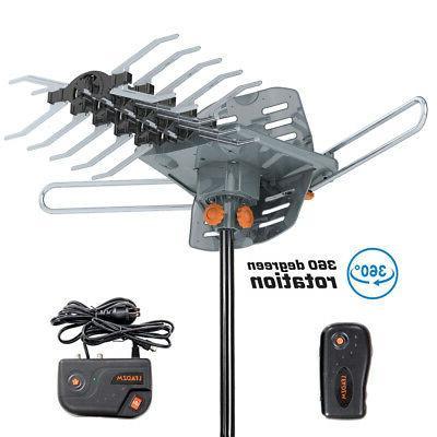 480miles outdoor tv antenna motorized amplified hdtv