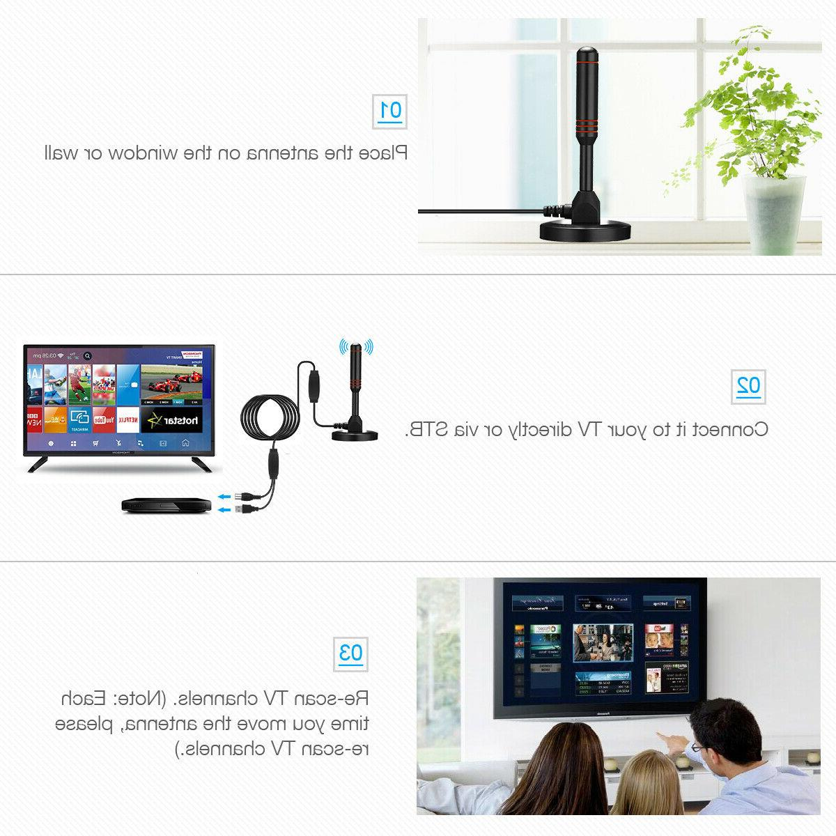 4K 1080P Indoor Digital TV HD Signal Booster Miles