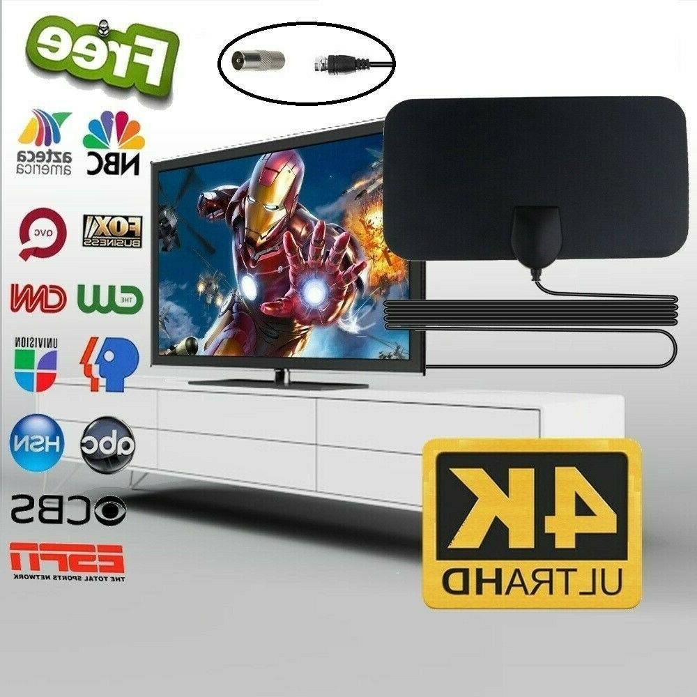 4k hd antenna for tv lightweight flexible