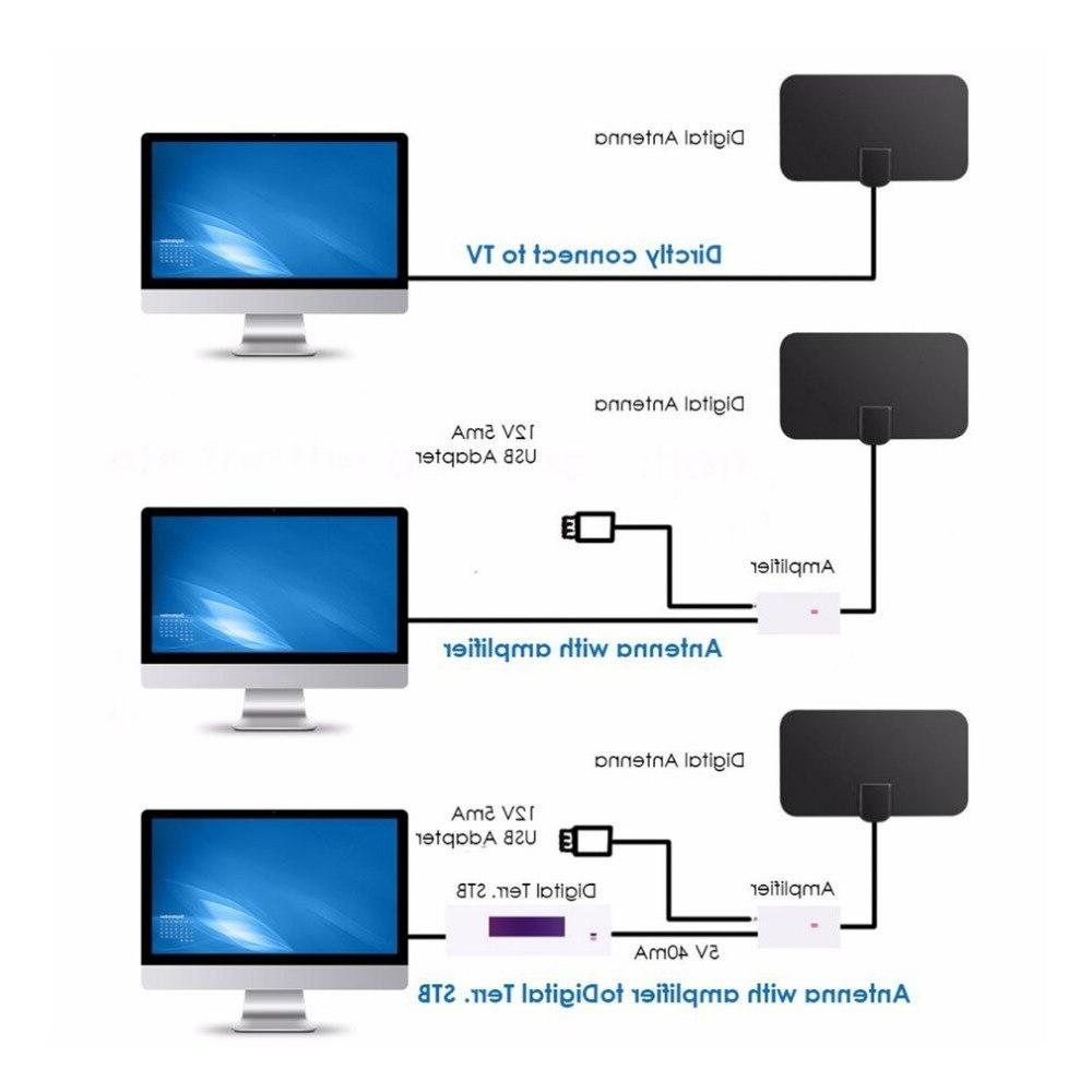 50 1080P Digital TV Signal Receiver Radius Surf Antena <font><b>Antennas</b></font> Mini