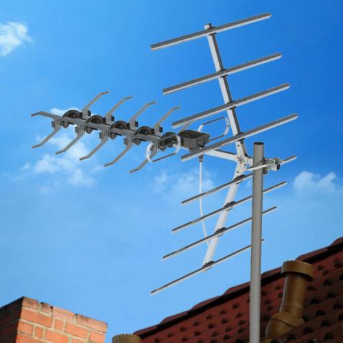 150mile range outdoor tv antenna amplified hdtv