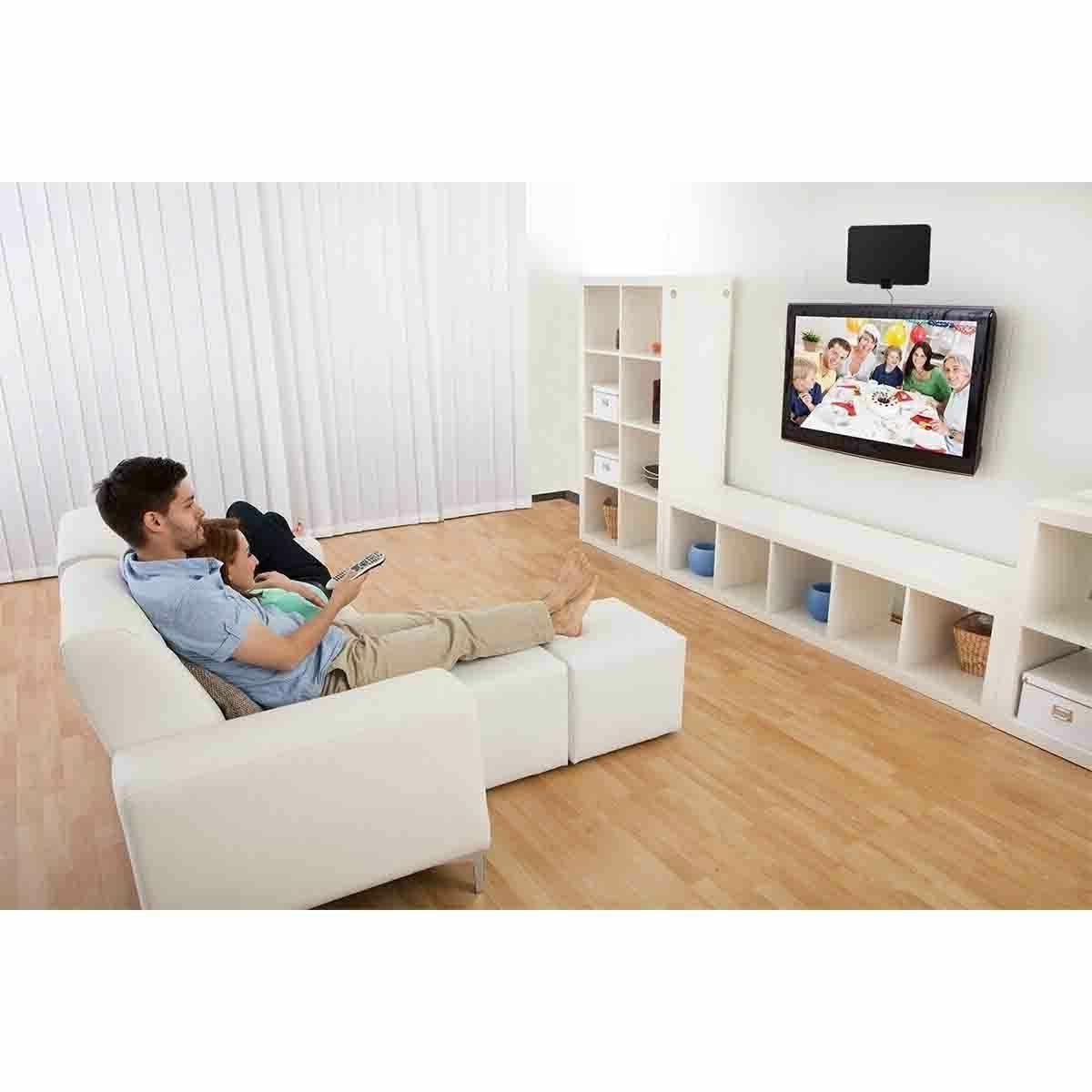 Thin Indoor TV Black Fosmon