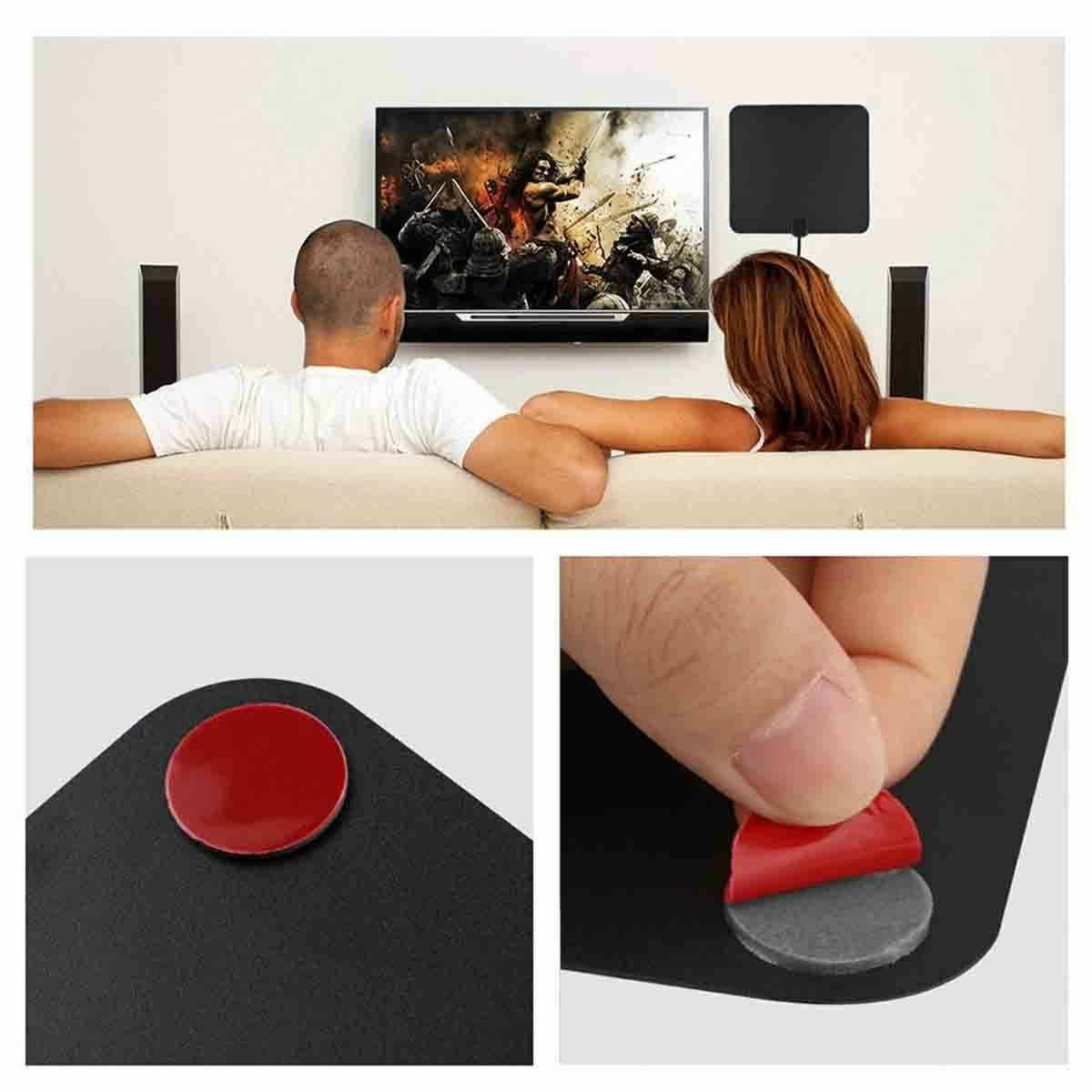 Indoor HDTV Amplified HD TV Black Fosmon