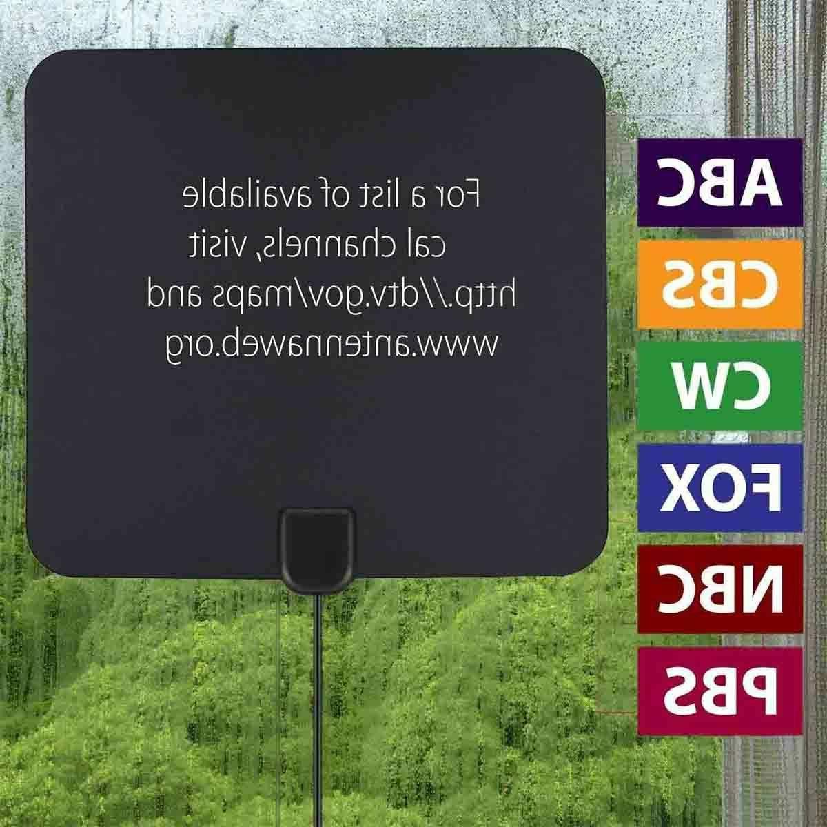 Digital TV Antenna Miles HDTV Indoor 13ft.