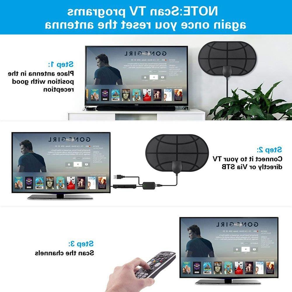 980 4K <font><b>TV</b></font> Signal Booster Active HD