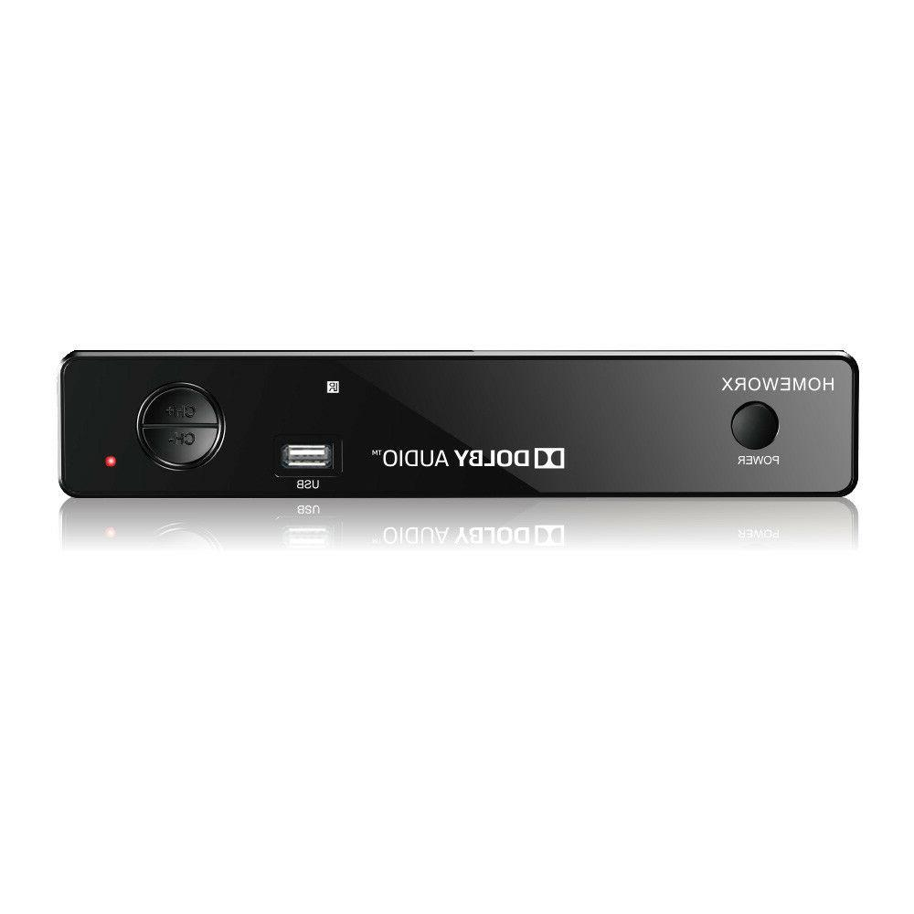 Mediasonic HomeWorx ATSC Digital Converter Box w/ TV Recordi