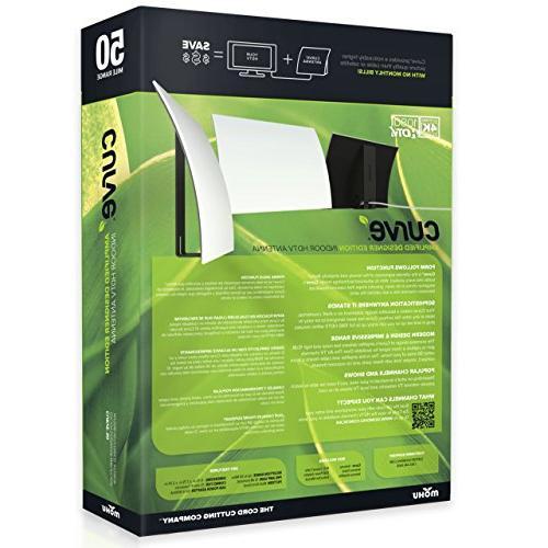 Mohu Antenna Amplified Mile Range Modern 4K-Ready HDTV for