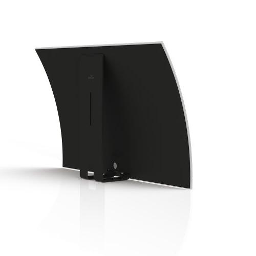 Mohu TV Antenna, Amplified, 50 Mile Range, Tabletop, Paintable, 16 Foot Detachable Cable, Premium Includes