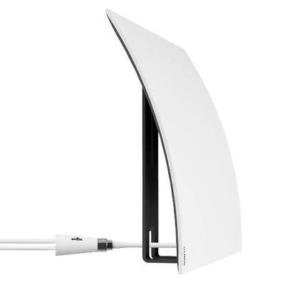 Mohu Curve 50 TV Antenna, Indoor, Amplified, 50 Mile Range,