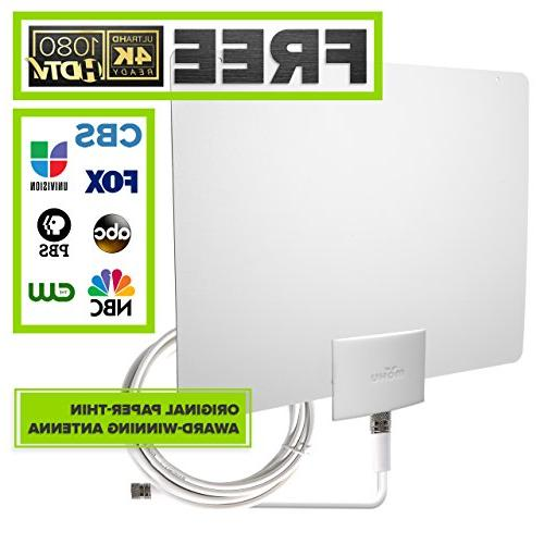 Mohu Leaf 30 TV Antenna, Indoor, 30 Mile Range, Original Pap