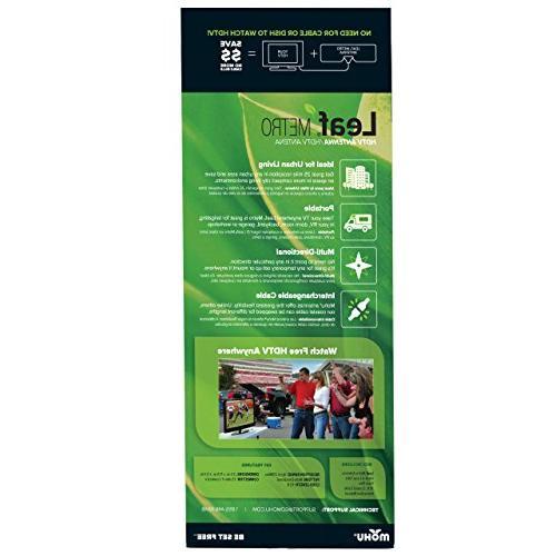 Mohu Mile Range, Reversible, 4K-Ready HDTV, 10 Detachable USA