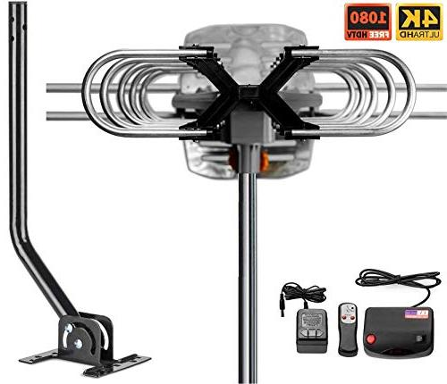 Vilso Antenna Amplified - 360 Degree - Digital HDTV Antenna - 150 Miles Range Pole
