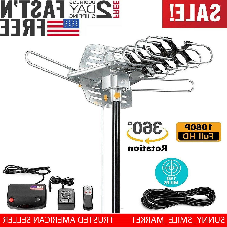 Vilso TV Antenna Outdoor Amplified - Motorized 360 Degree Ro