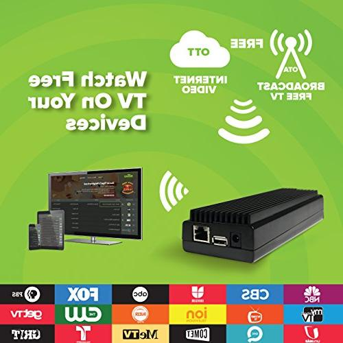 Mohu AirWave Network Streaming Device, Edition, Antenna, Programming Guide, TV app, MH-110088