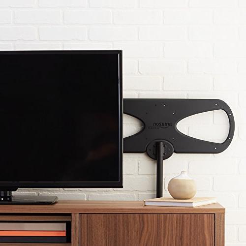 AmazonBasics Indoor/Outdoor TV Antenna 60 Mile Range