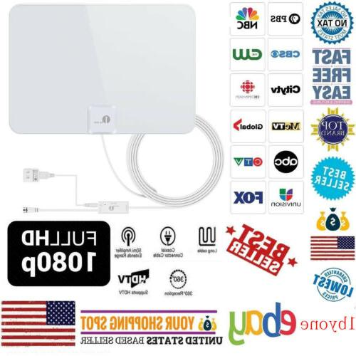 amplified digital indoor tv antenna hdtv high
