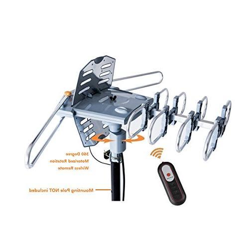 McDuory Digital HDTV Antenna Long Degree Rotation Control - Support 2