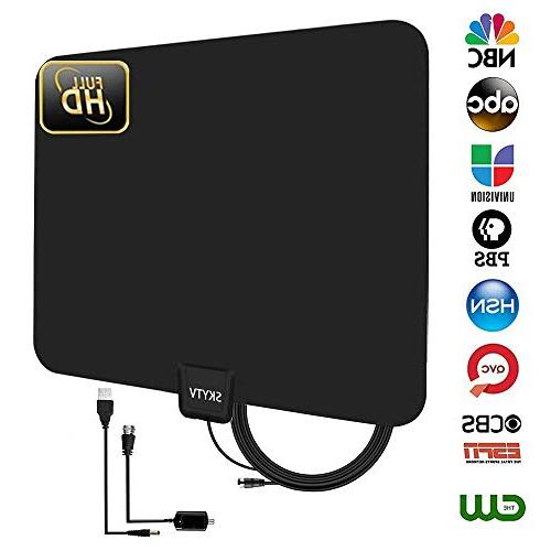 amplified hdtv antenna range indoor
