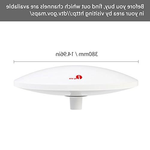 1byone with Omni-Directional 70 Antenna Boat Antenna with Stainless Steel Base, Suitable for Anti-UV