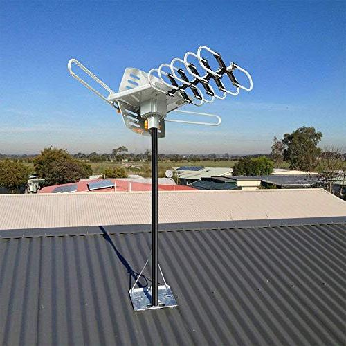 HD TV Antenna - HDTV 150 Mile Range with Antenna Mount Pole for 2 Remote Control -33' Coax Cable
