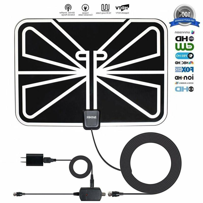 Antenna TV Digital HD 200 Mile Range Skywire TV Antenna For