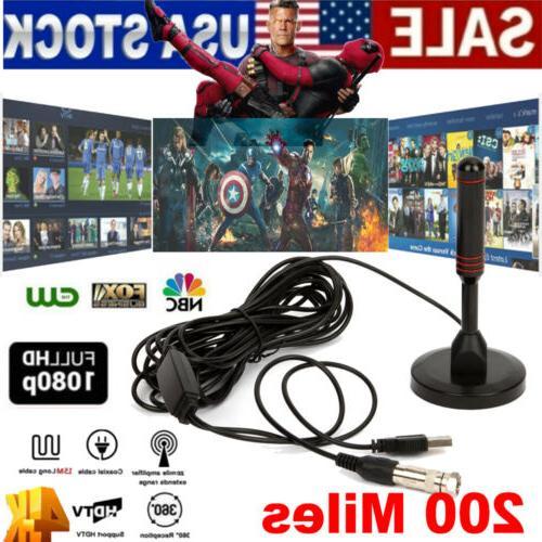 antenna tv digital hd 200 mile range