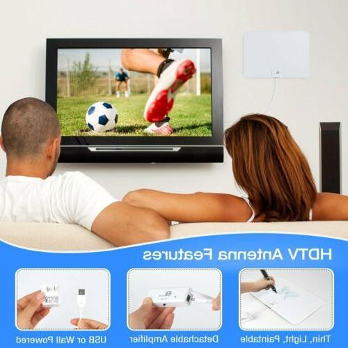 1byone Antenna HD 200 Mile TV Indoor 4K Coax