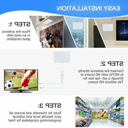 1byone Antenna TV HD 200 TV Indoor 1080P 4K Coax