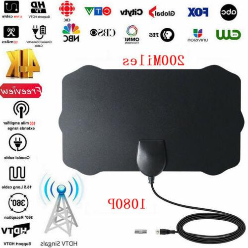 Antenna 300 Mile Range TV Indoor 4K 28dB Coax