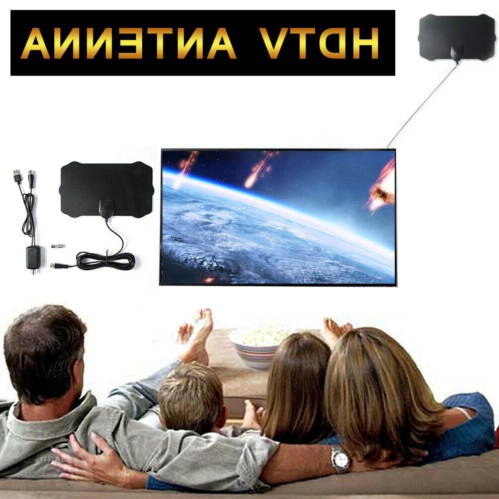 Antenna Indoor Digital 200 Miles Range 1080P Booster HDTV
