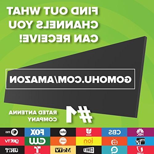 New! Mohu TV Antenna, 50 Range, Get TV, 4K Ready