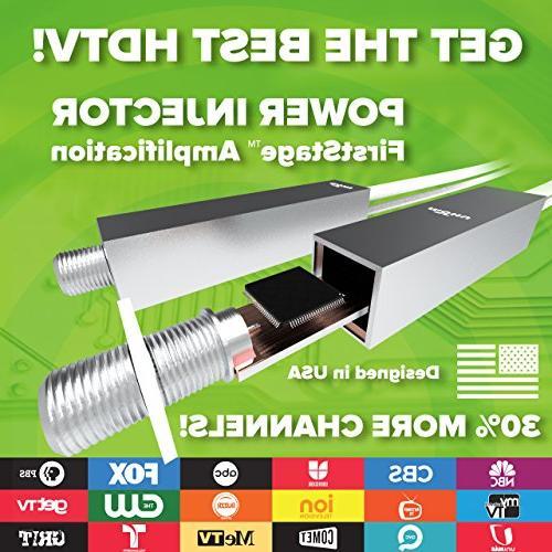New! Mohu Antenna, 50 Mile Range, Get Free TV, Ready