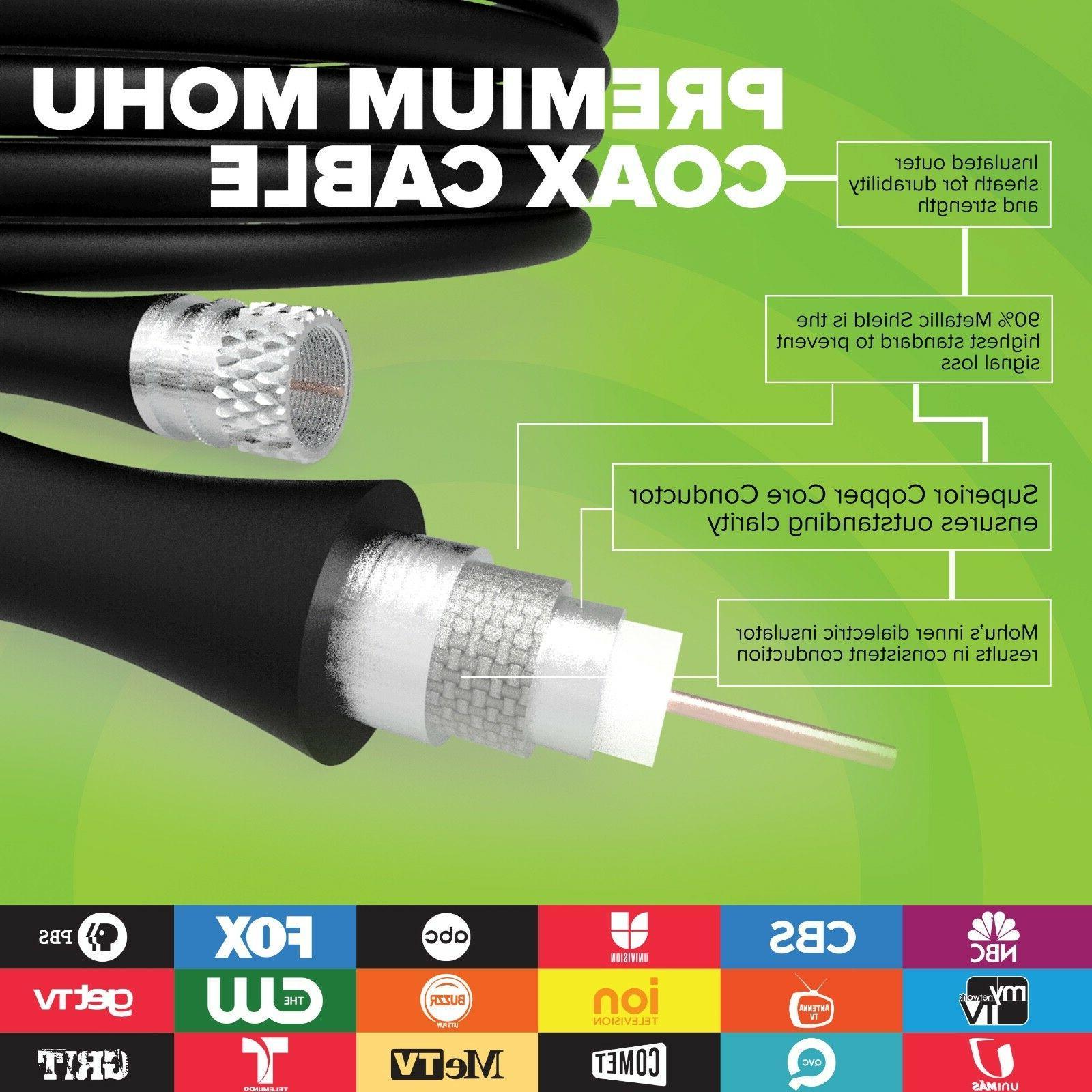 Mohu Premium HDTV 60 Mile Antenna - Modern Soundbar Style