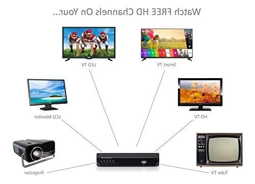 Digital Converter Box Flat Cable for Recording Watching Full HD Digital Channels FREE