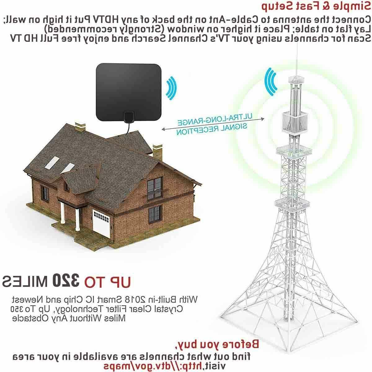 SUPER ANTENNA HD HIGH HDTV DTV VHF 320 MILES INDOOR