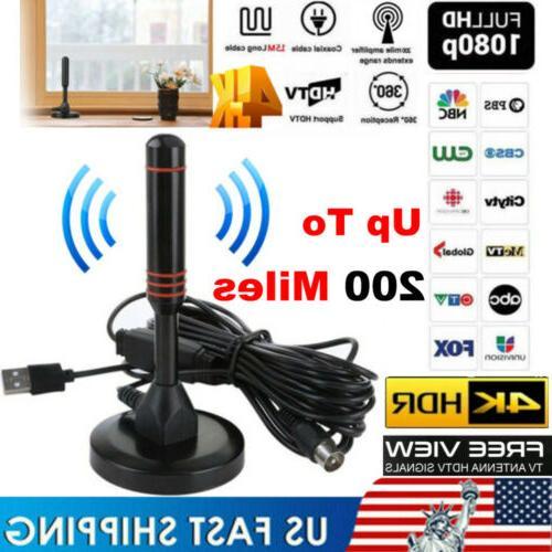 digital indoor amplified tv antenna with amplifier