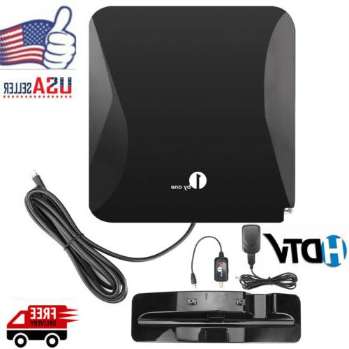 1byone Flat Antenna Antena High Gain with Amplifier