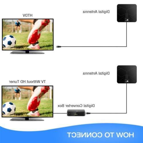 1Byone HDTV TV Antenna 50miles Color