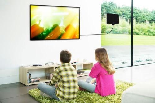 1Byone TV Antenna 50miles Black/White Color