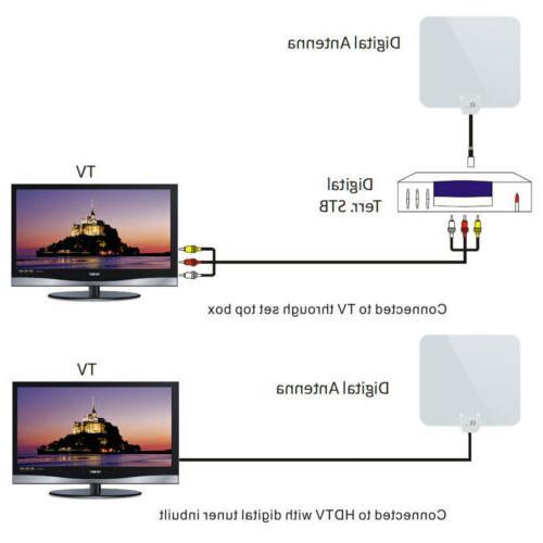 1Byone TV UHF/VHF/FM 50miles Black/White