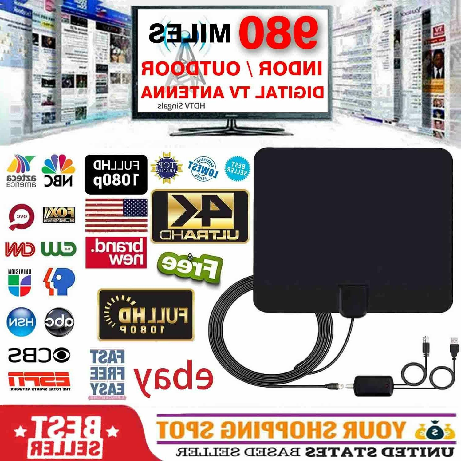 digital tv antenna 450 miles range signal