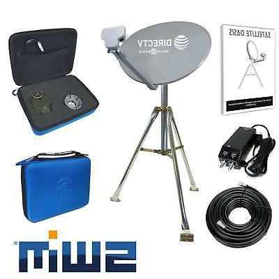 DIRECTV Swim Mobile RV Portable Satellite Dish Tripod Kit SW