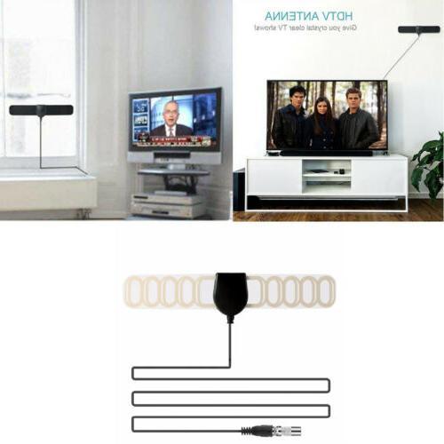 Flat HD Digital Indoor Amplified TV Antenna Amplifier 13ft