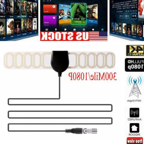 flat hd digital indoor amplified tv antenna